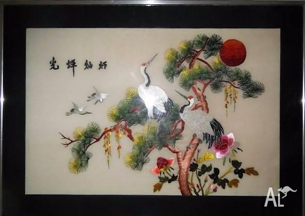 100 Handmade Chinese Silk Embroidery Artwork For Sale In Newtown