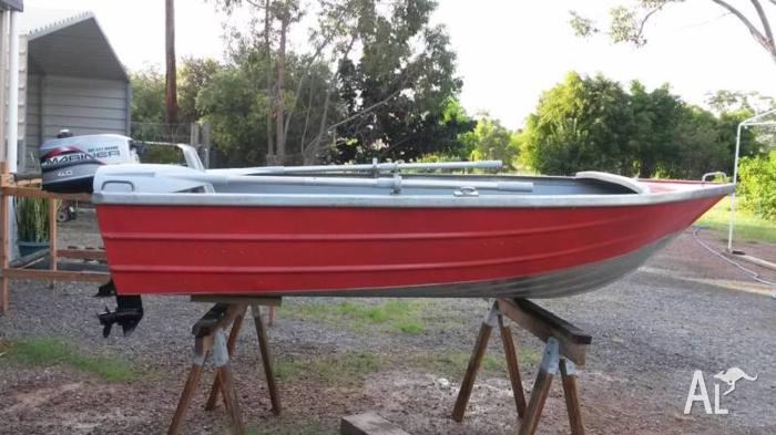10' tinny with 4hp outboard