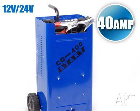 12V / 24V 40AMP Battery Charger & Jump Starter