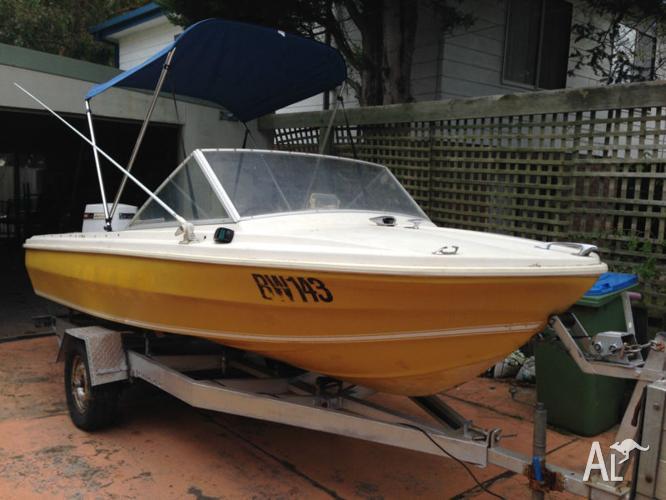 15 ft~4.5m CARIBBEAN Fiberglass Boat 125HP - Tilt