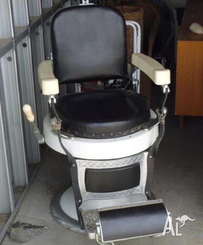 1890 Barber Chair Restored F & F Koenigkramer Hydraulic