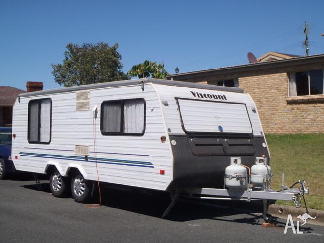18ft viscount poptop caravan