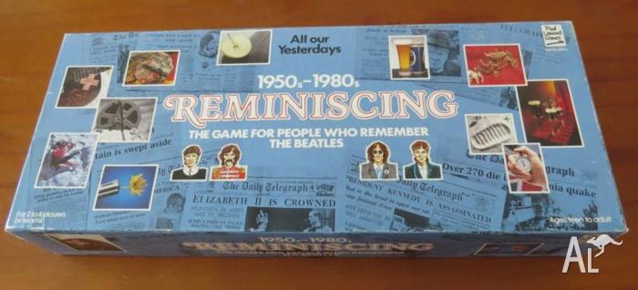 1950s-1980s Reminiscing Board Game