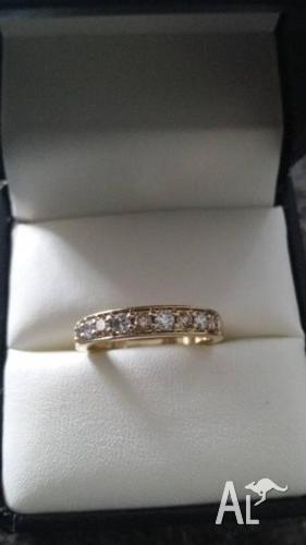 1/2 carat diamond ring. Size N.