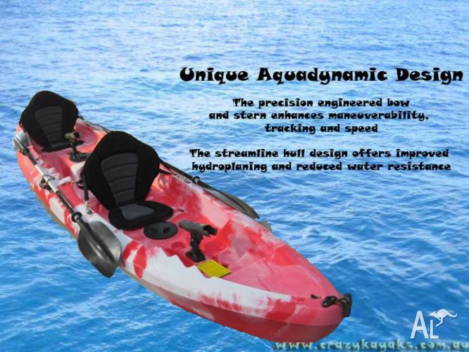 1 - 2 or 3 Seater Deluxe kayak Package - Only $600