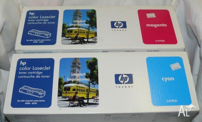 1 HP C4193A Magenta & C4192A Cyan Toner Cartridges