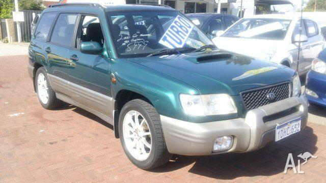 2000 Subaru Forester 79V MY01 GT AWD Green 5 Speed