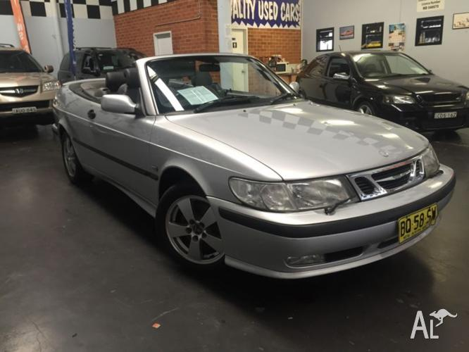 2002 Saab 9-3 Turbo, 2 Door Soft Top Convertible