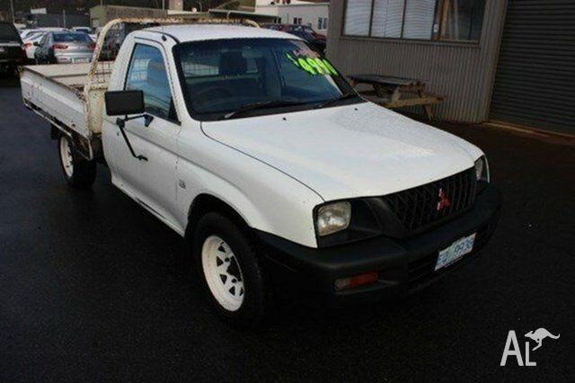 2003 Mitsubishi Triton MK MY02 GL White 5 Speed Manual