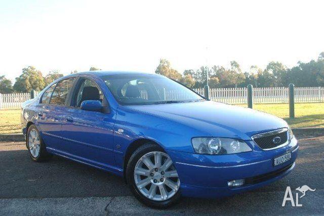 2004 Ford Fairmont BA Ghia Blue 4 Speed Auto Seq Sportshift