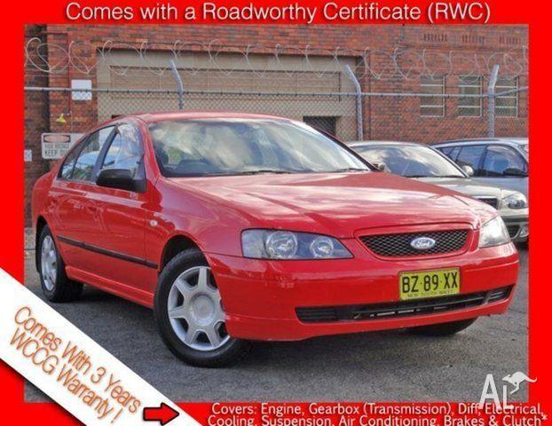 2004 Ford Falcon BA XT Red 4 Speed Auto Seq Sportshift Sedan for