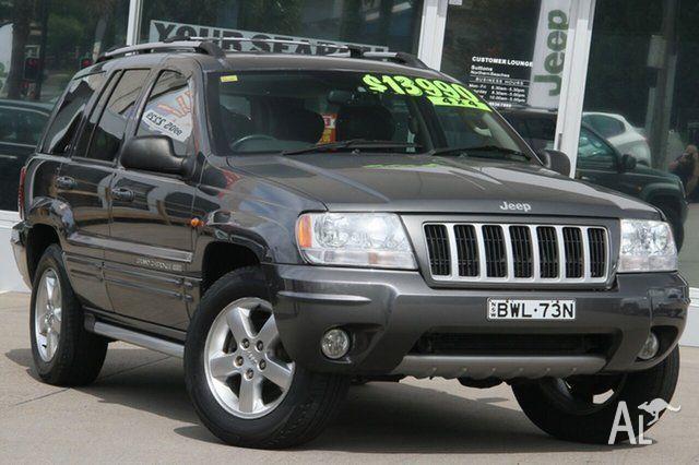 2004 Jeep Grand Cherokee WG Limited (4x4) Grey 5 Speed