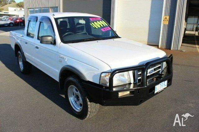 2005 Ford Courier PH GL Crew Cab White 5 Speed