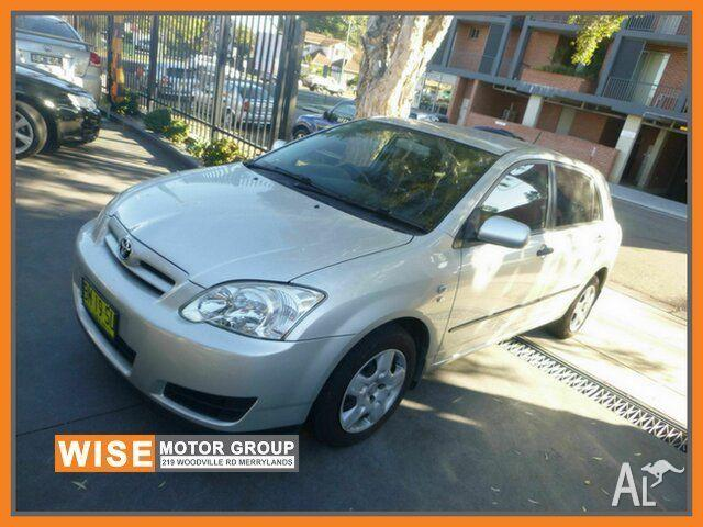 2006 Toyota Corolla ZZE122R 5Y Ascent Silver 4 Speed