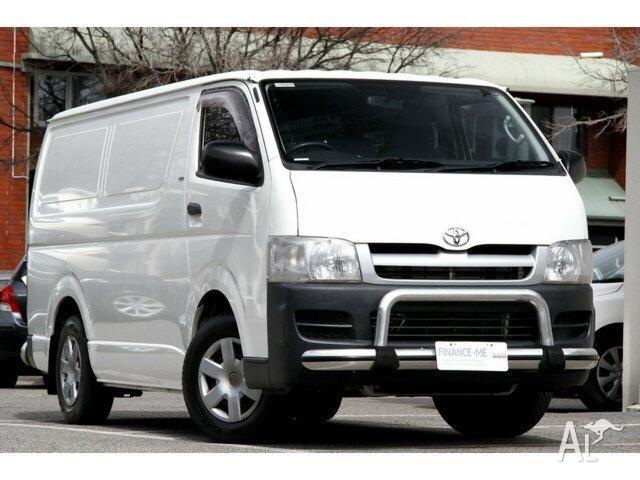 57196d76d1c279 2006 Toyota Hiace TRH201R LWB White 4 Speed Automatic Van for Sale ...