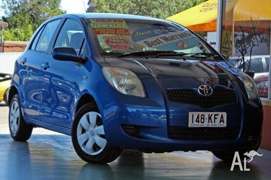 2007 Toyota Yaris NCP90R YR Blue 5 Speed Manual