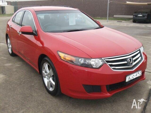 2008 Honda Accord 10 Euro Red 6 Speed Manual Sedan