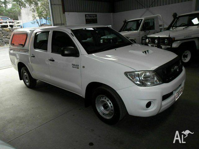 2010 Toyota Hilux KUN16R MY10 SR White 5 Speed Manual