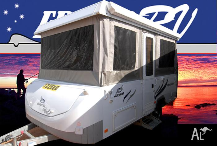 2011 jayco penquin pop top front bed rear kitchen sn1086 for Beds r us toowoomba