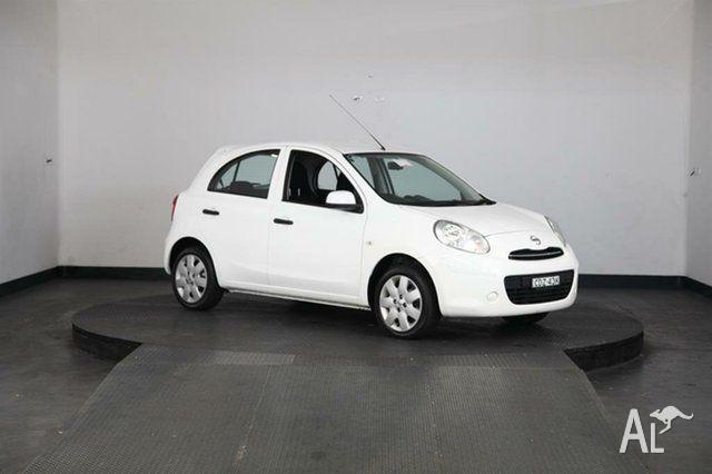 2011 Nissan Micra K13 ST-L White 4 Speed Automatic