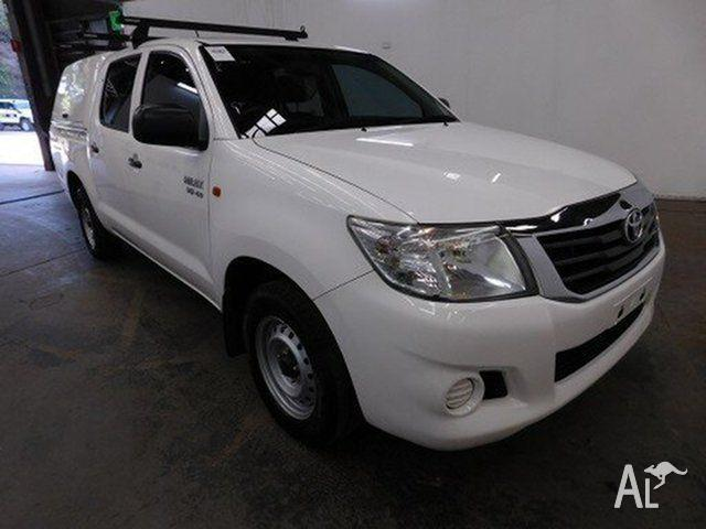 2012 Toyota Hilux GGN15R MY12 SR Glacier White 5 Speed