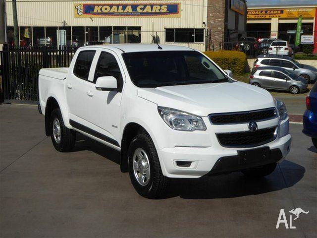 2013 Holden Colorado RG LX (4x2) White 6 Speed