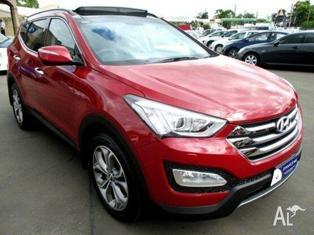 2013 Hyundai Santa Fe Red Merlot Automatic Wagon For Sale