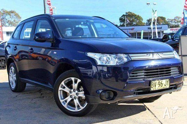 2013 Mitsubishi Outlander ZJ MY14 ES 4WD Blue 6 Speed