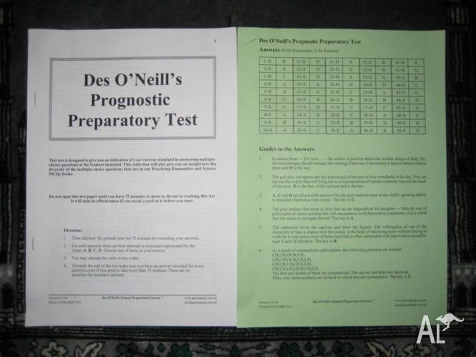 Oneill pdf des gamsat