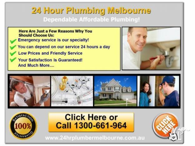 24 Hr Plumber Melbourne Services 1300-661-964