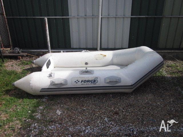2.6 METER INFLATABLE TENDER , 2hp Mariner outboard