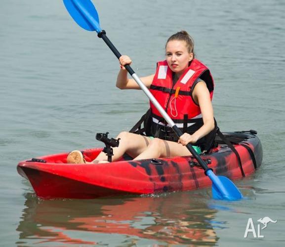 2.95M Single Sit-on Kayak Fishing Boat Canoe 5 Rod