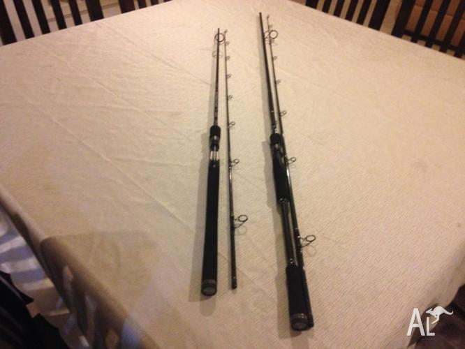 2 NEW SHIMANO IMPACT NANO XT RODS & PENN PREVAIL SURF