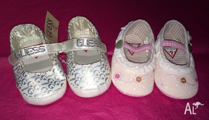 2 x baby girl size 6 12months GUESS shoes *new* for Sale in