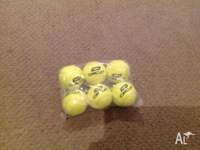 2 x Dia Junior 64 tennis Racquets, plus 6 Tennis Balls