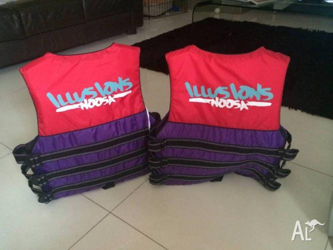 2 x Life Jackets (Illusions Noosa brand)
