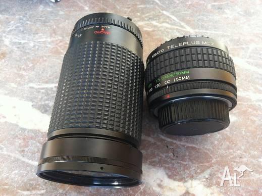 2 X Macros Lenses Nas Macro Teleplus Suit NIKON SLR