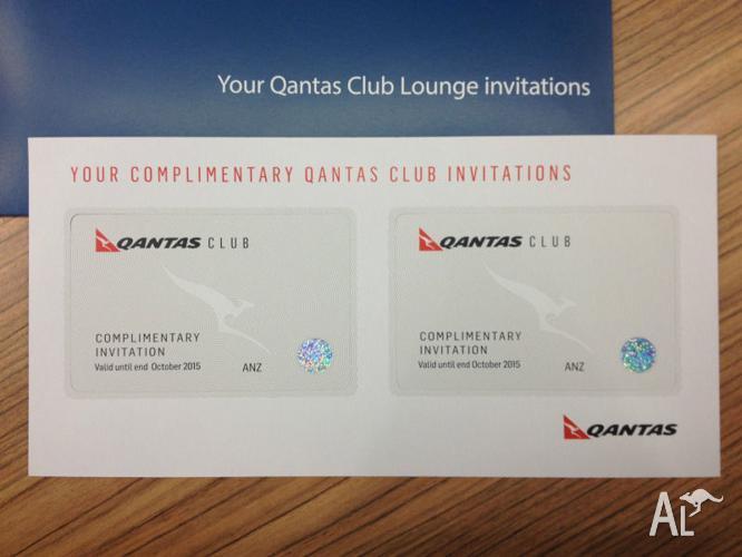 2 x Qantas Club Lounge Invitation Pass