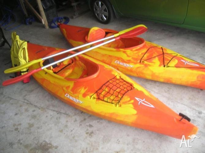 2x kayaks drifter dagger single seats