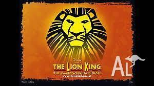2x Lion King tickets - 9/12/2015 @ 1PM