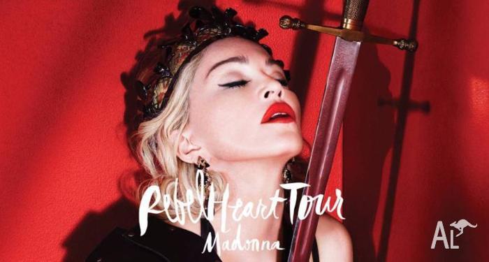 2x Madonna Rebel Heart PLATINUM Tickets Sydney