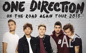 2x ONE DIRECTION TICKETS