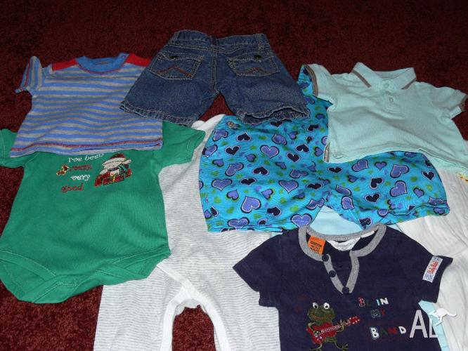 31 OR 63 ITEMS APPROX FOR BOY SIZE OO CLOTHING BUNDLE
