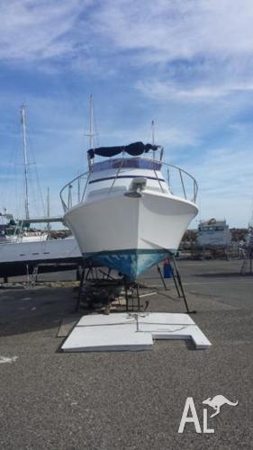32ft fury project boat thats near complete forced sale for Boat motor repair near me