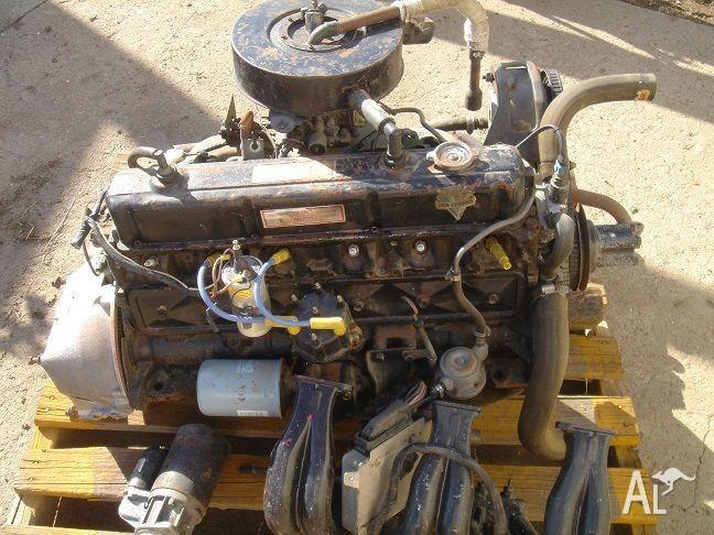 3.3 ltr Black Holden Motor, fully rebuilt.