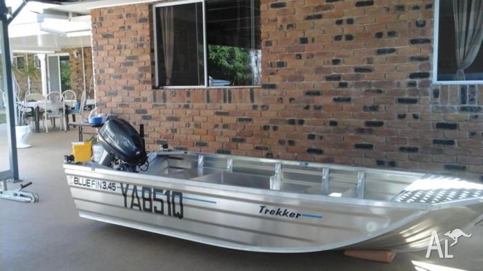 3.45 Bluefin trekker with 15 hp yamaha