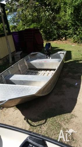 3.45 metre boat with 4hp mercury motor