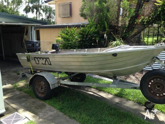 3.7 meter Stacer with 25hp Evinrude