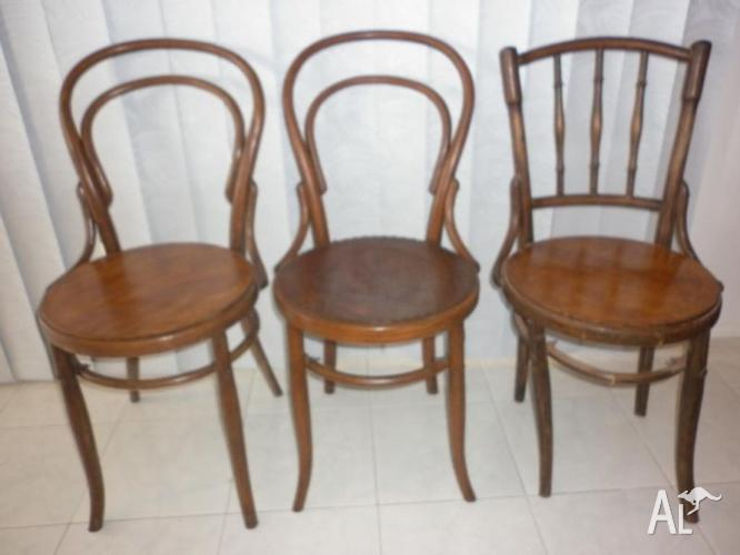 3 Bentwood chairs