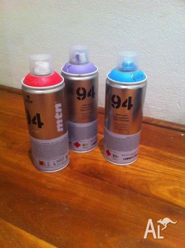 3 MNT SPRAY CANS, almost never used.